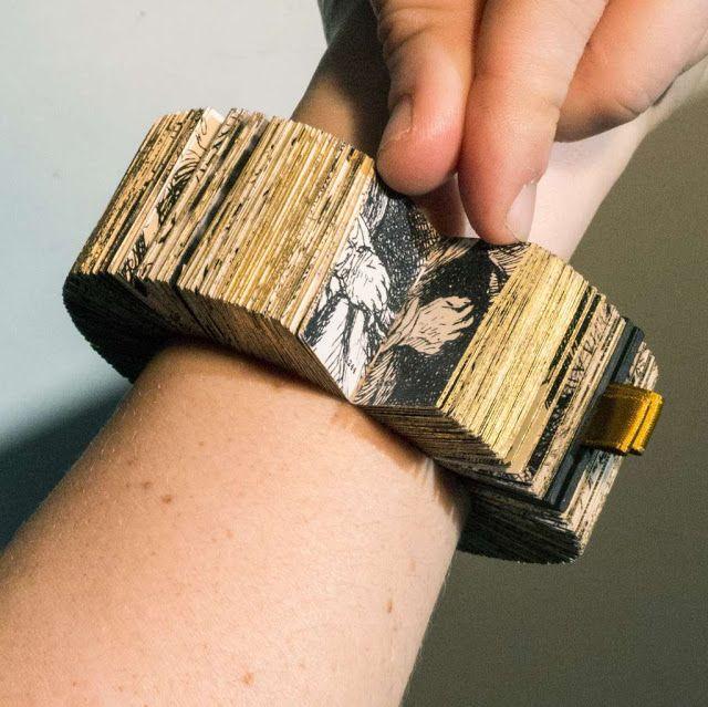 This Rembrandt inspired book bracelet has won the 2015 Rijksstudio Award