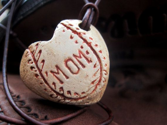 Baseball+Mom+Necklace+Heart+Pendant+Hand+by+MyBarefootStudio