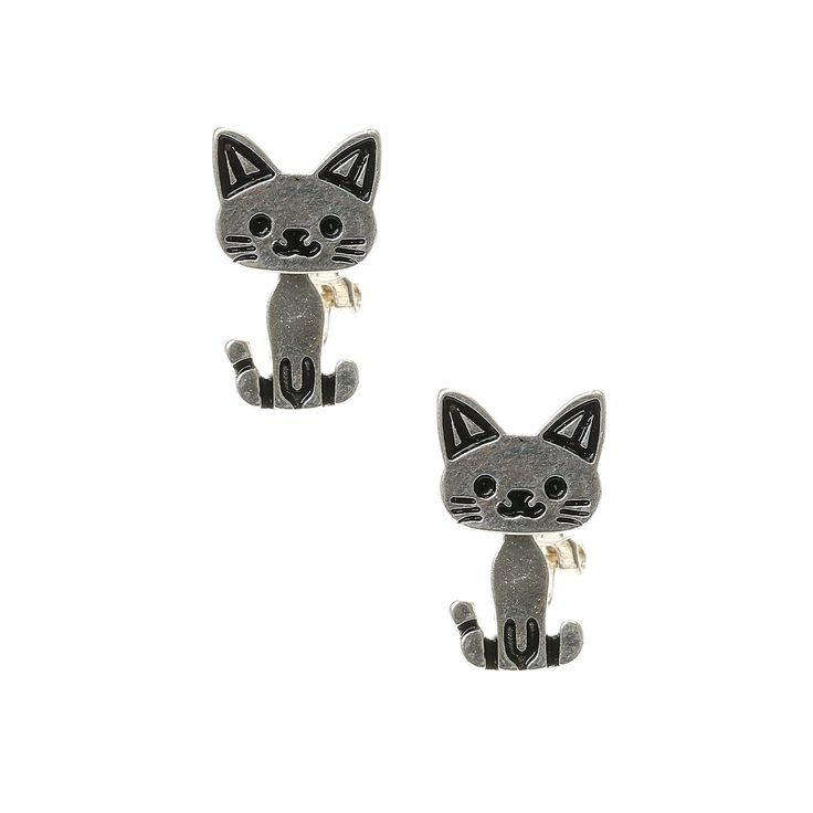 Moving Cat Clip On Earrings