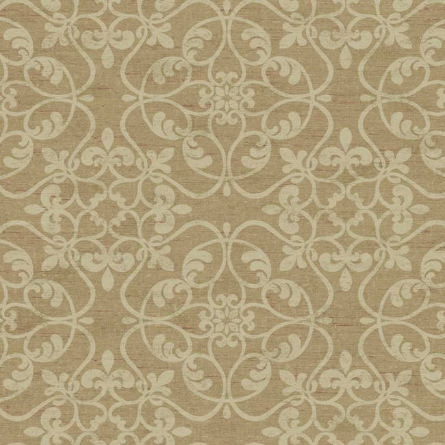 Interior Place   Soft Brown Linen Scroll Wallpaper   52 07  http   www. 17 Best images about Wall Paper Designs on Pinterest   Stencils