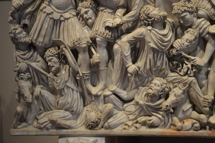 Small Ludovisi Sarcophagus Palace Altemps Rome  (my photo)