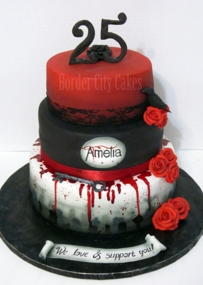 Vampire Diaries Cake By emilsmee on CakeCentral.com