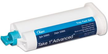 Take 1 Advanced Cartridges from Kerr Restoratives! #kerrproducts VPS material with the optimum combination of physical properties for consistently precise #impressions: strength, elasticity, dimensional stability, and the ability to register great detail in any environment. #impressionmaterial #dentalimpression