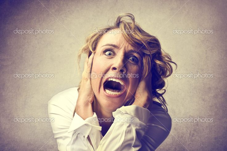 Scared screaming woman — Stock Photo © olly18 #29594245