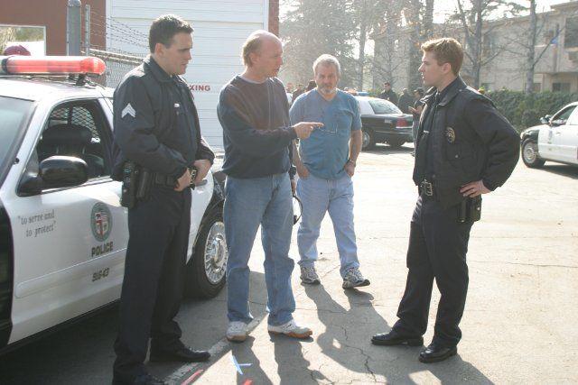 Still of Ryan Phillippe, Matt Dillon, Paul Haggis and Robert Moresco in Crash (2004)