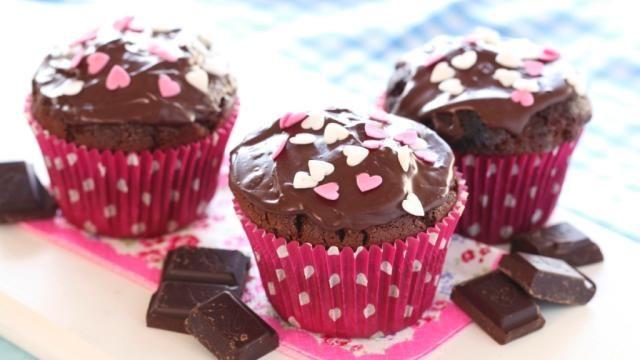 Oppskrift på Glutenfrie sjokolademuffins