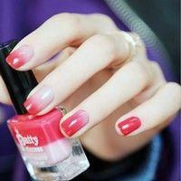 Wish | Nail Gel Brand Patty Princess Temperature Change Color UV Gel Nail   Polish Long Lasting 15ML Soak Off Gel Nail Varnish (Color: Cherry)
