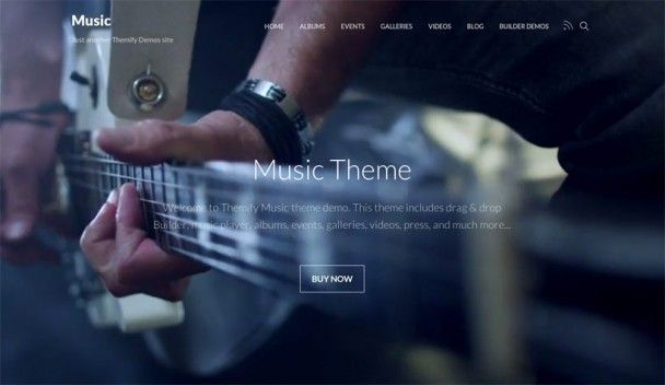 Themify have launched a spectacular music theme with complete modern design, so you can create a great site with this theme and their revamped website builder which is more powerful to make it even easier to create truly unique and beautiful websites. #wordpress