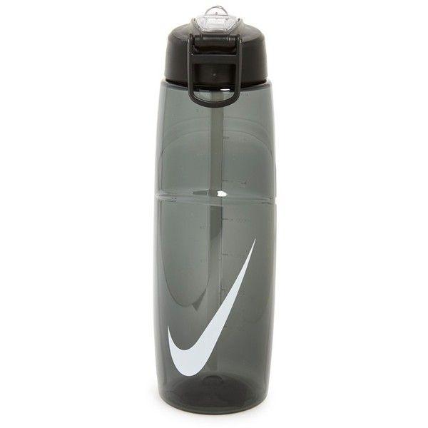 Nike 'Flow Swoosh' Logo Water Bottle ($16) ❤ liked on Polyvore featuring home, kitchen & dining, serveware, fillers, logo water bottles, nike, dishwasher safe water bottle, leak proof water bottle and 32oz water bottle