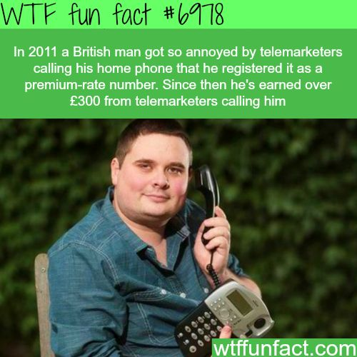 How to annoy telemarketers - WTF fun fact