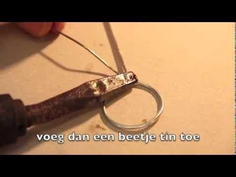 ▶ Instructie: solderen van de ijzerdraad
