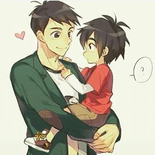 Tadashi and a cute young Hiro
