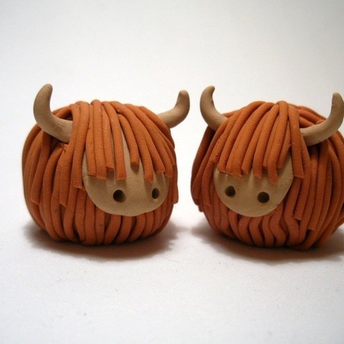 Wee Highland Cow models