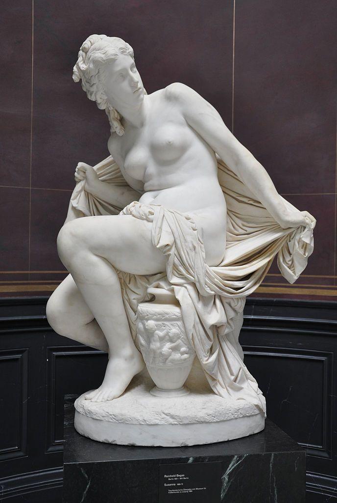 Σουζάνα  Reinhold Begas (1869-72) Παλαιά Εθνική Πινακοθήκη Γερμανίας στο Βερολίνο