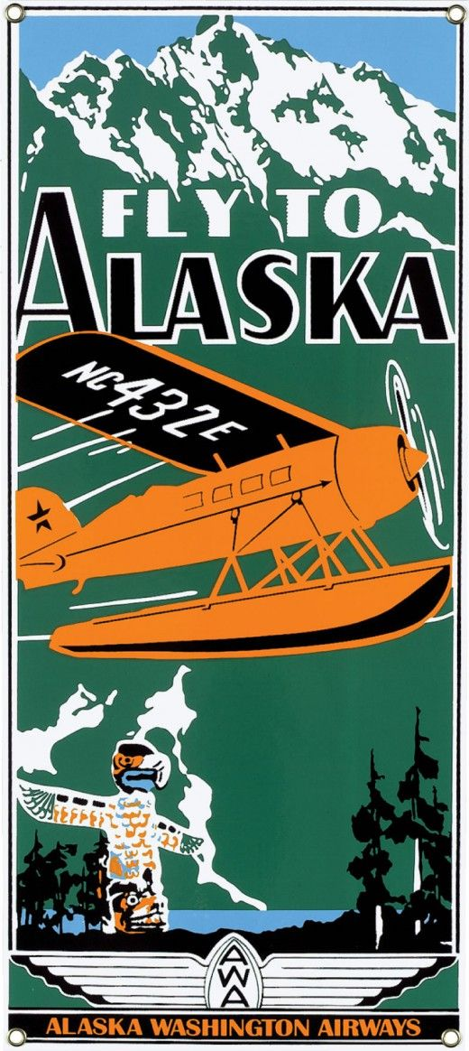 ALASKA WASHINGTON AIRWAYS-OLD AD