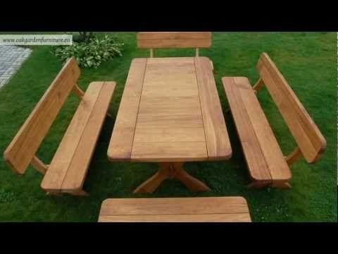 Wooden Garden Furniture Set Youtube Garden Furniture Sets Wooden Garden Table Wooden Garden Furniture Sets