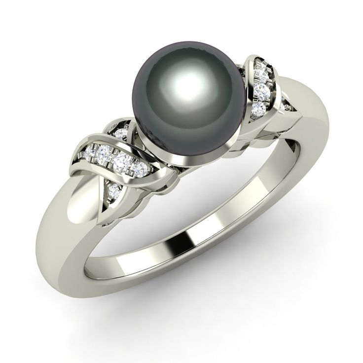 126 best black pearl engagement rings images on