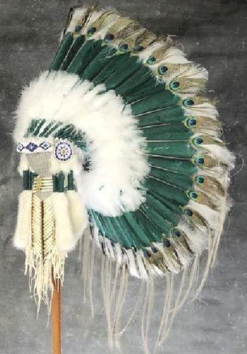 Native American Peacock Eye War Bonnet - Warrior/Chief Headdress