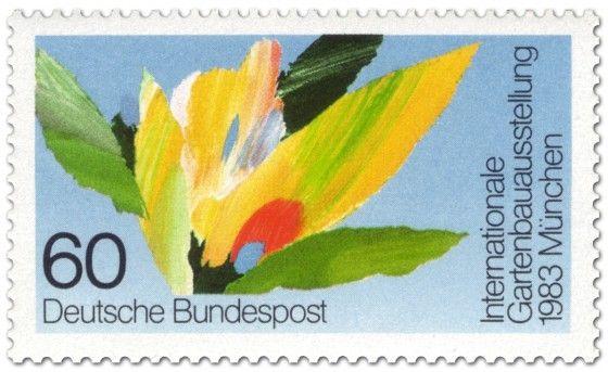 Briefmarke: Bunte Blumen - Gartenbau-Ausstellung München