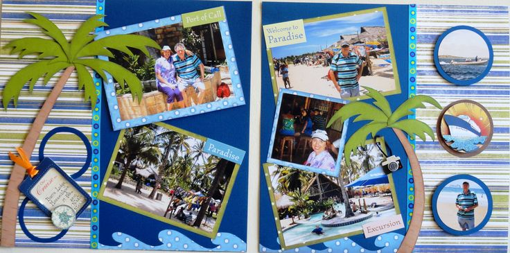 Travel #cruise #double layout #scrapbooking