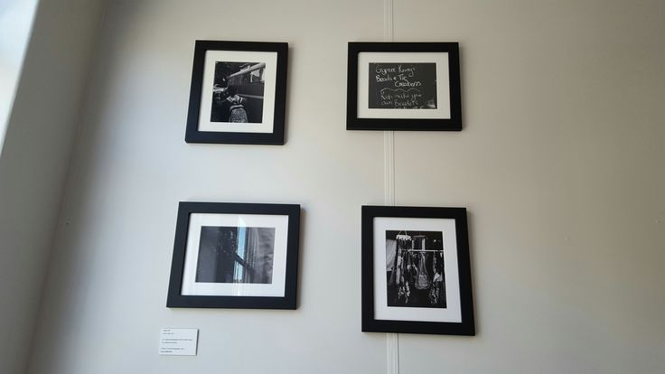 The walls are nearly full! Join us for our opening on July 23rd at noon.