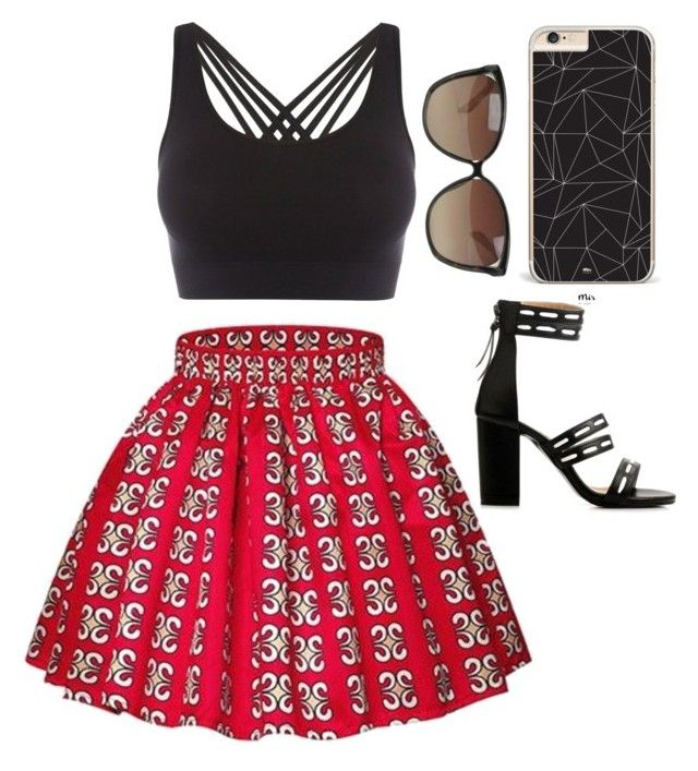 """""""Cute Skirt Outfit"""" by aizistrash on Polyvore featuring Pepper & Mayne, Linda Farrow and Huawei"""