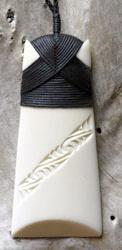 Maori Bound Toki Bone Carving