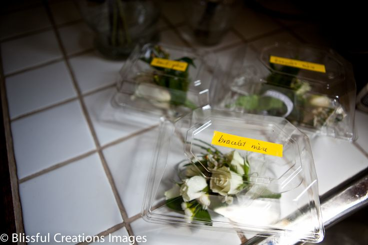fresh flowers waiting to be pinned