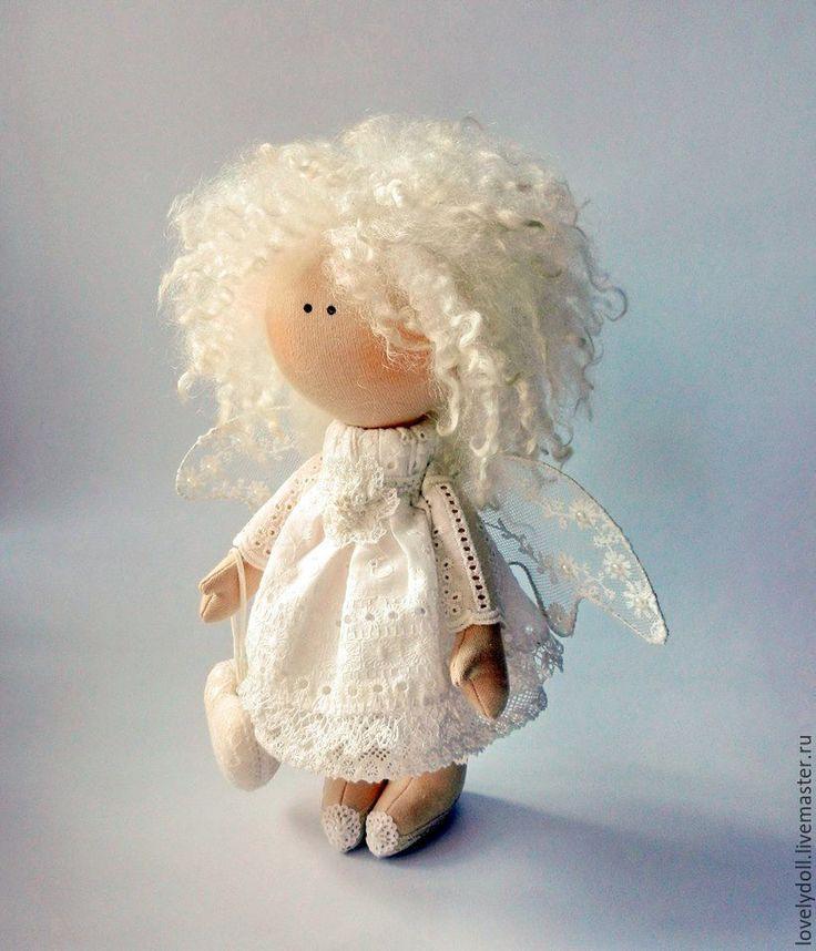 Купить Ангел-хранитель 2 - бежевый, белый, ангел, ангелочек, ангел-хранитель, красивый подарок