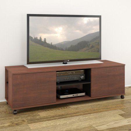 Nexera Jasper 60 inch 2-Door TV Stand for TVs up to 60 inch, Multiple Colors, Brown