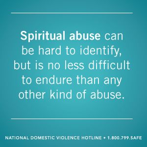 What is spiritual abuse? | thehotline.org