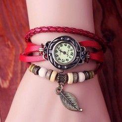 Rød bånds Vintage klokke kun 99kr
