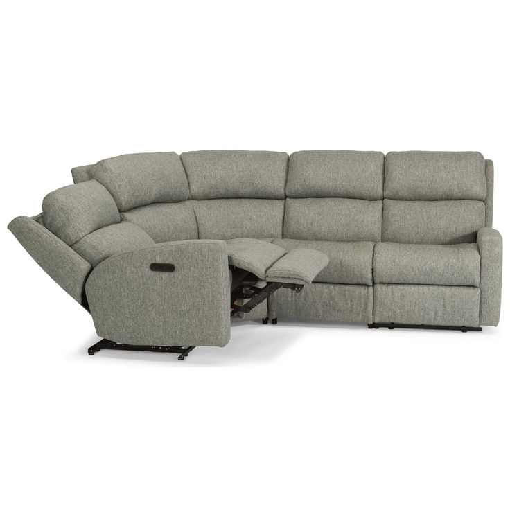 Catalina 4 Pc Reclining Sectional w/ Pwr Headrests by Flexsteel