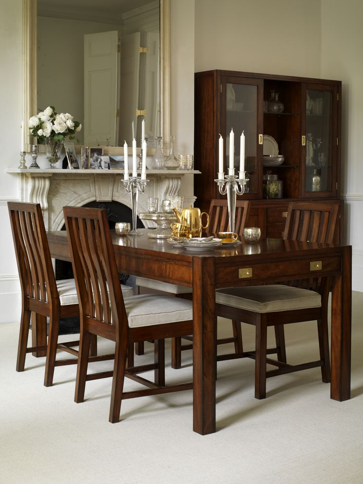 The Trafalgar Collection Historic And Handsome Inspired By Military Campaign Furniture From 19th Dining Room