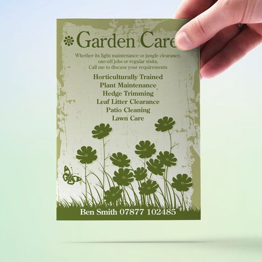 garden care garden maintenance flyer design and print fast turnaround quality flyer and leaflet design for a low cost and flyers ideal for clubs