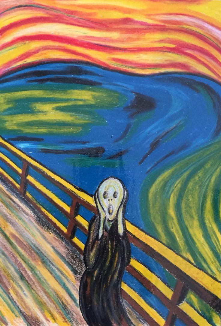 Parafrase af Skriget af Edward Munch lavet i neocolor