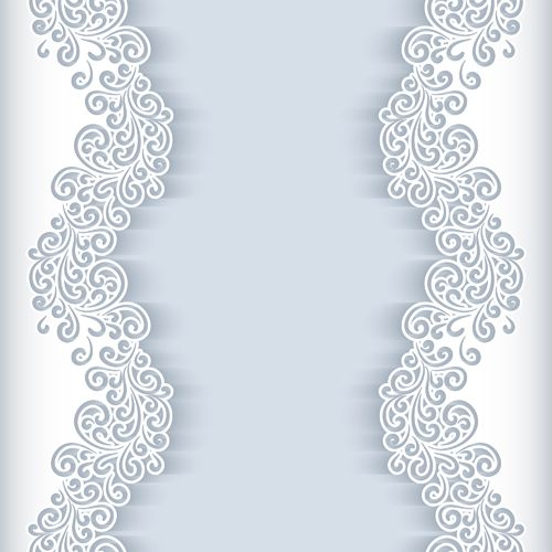Paper lace frame vector background 04