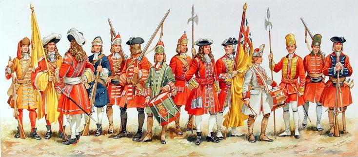Royal Marines uniforms, 17th to 20th centuries.
