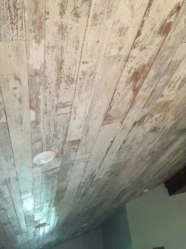 Bedroom Ceiling With White Washed Barn Wood Planking For Walls Floors Ceilingore In 2018 Pinterest