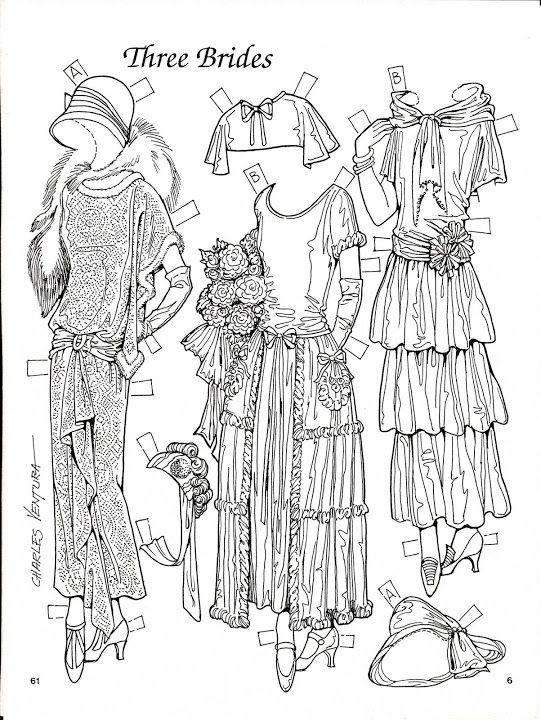 Three Brides 1923-24 Paper Dolls by Charles Ventura - Nena bonecas de papel - Picasa Webalbum