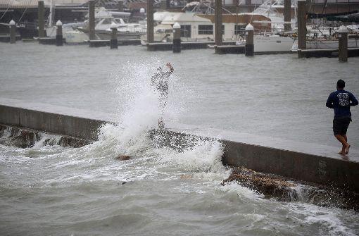 """Hurrikan """"Harvey"""" sorgt an der texanischen Küste bereits für steigende Wasserpegel. Foto: GETTY IMAGES NORTH AMERICA"""