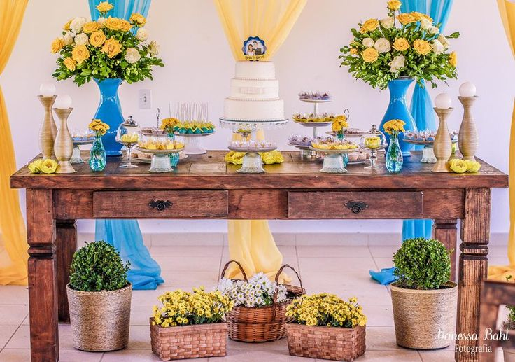 feito por mim,casamento amarelo e azul