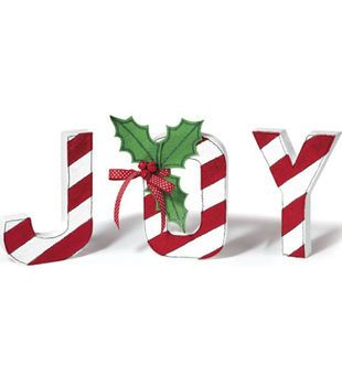 Christmas Joy Painted Letters