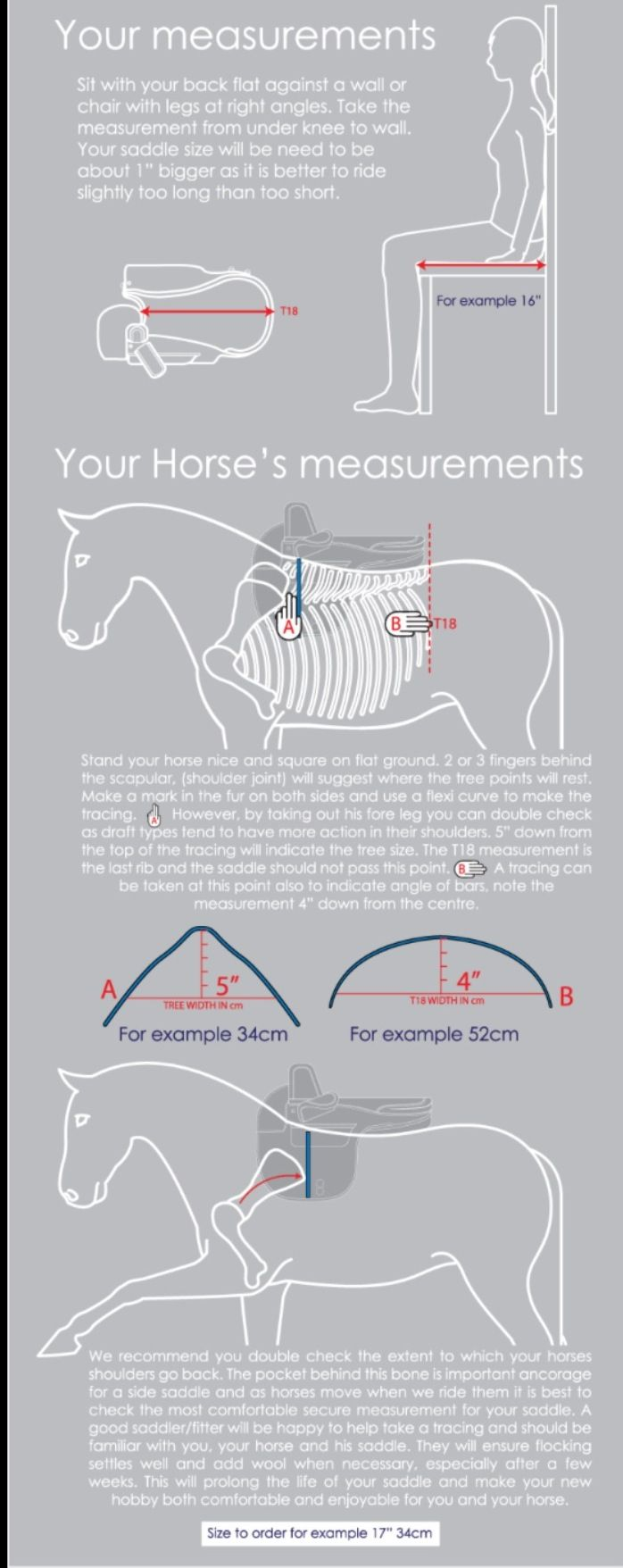 Measuring you and your horse for a saddle