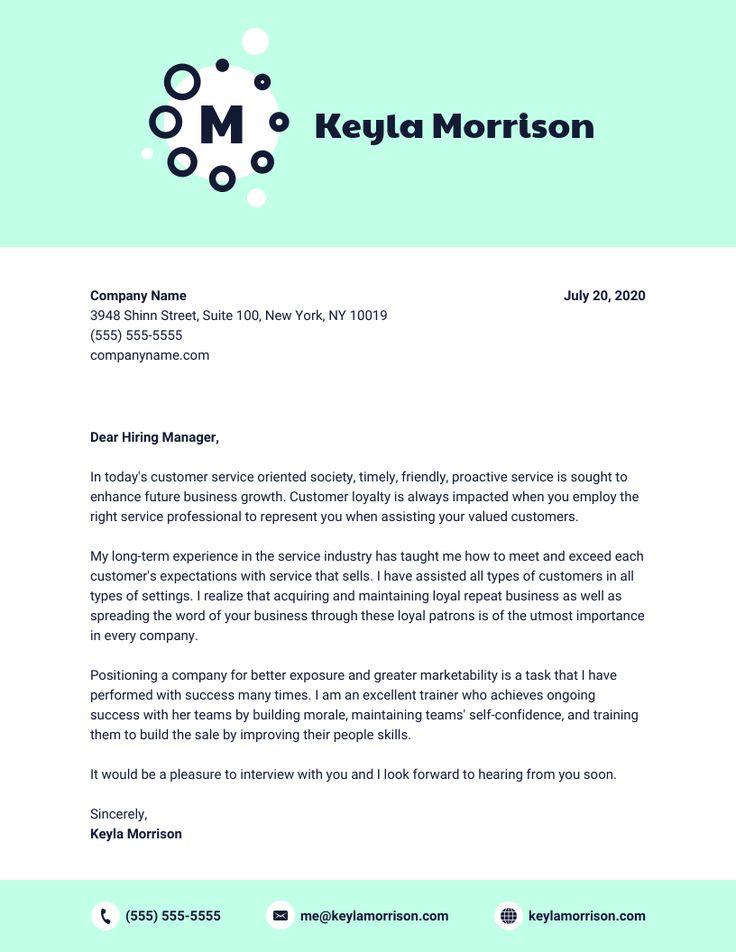 Blue Cover Letter Cover letter template, Cover letter