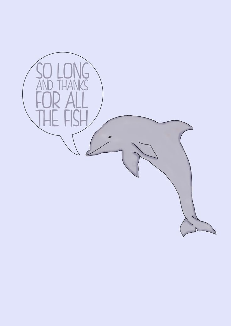 'The Hitchhiker's Guide To The Galaxy' dolphin illustration
