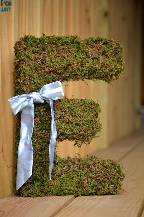 Earthy Moss Letters by threadowl on Etsy, $20.00.  Order yours today!