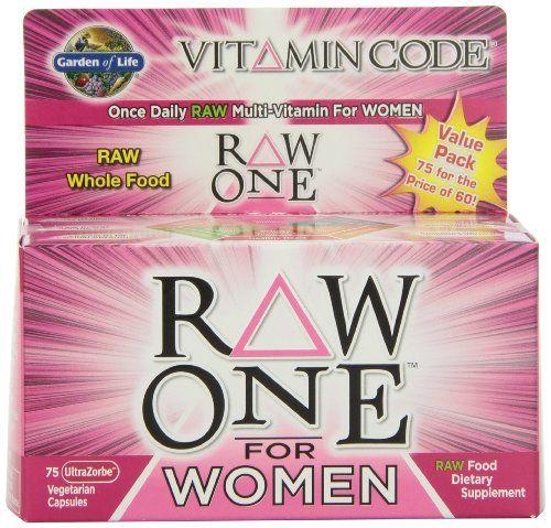 Garden of Life Vitamin Code RAW One for Women, 75 Capsules Garden of Life http://www.amazon.com/dp/B0039LF4Y4/ref=cm_sw_r_pi_dp_bUv7ub0QZ4HV4