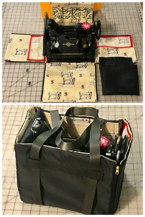 Singer Featherweight sewing machine carry bag and workstation sewing pattern. Se…