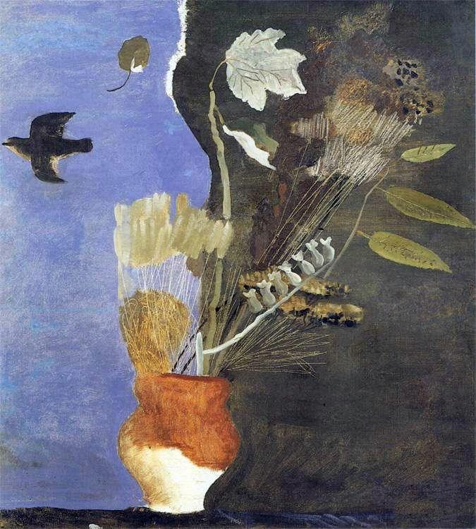 aleksandr deyneka(1899-1969), dry leaves, 1933